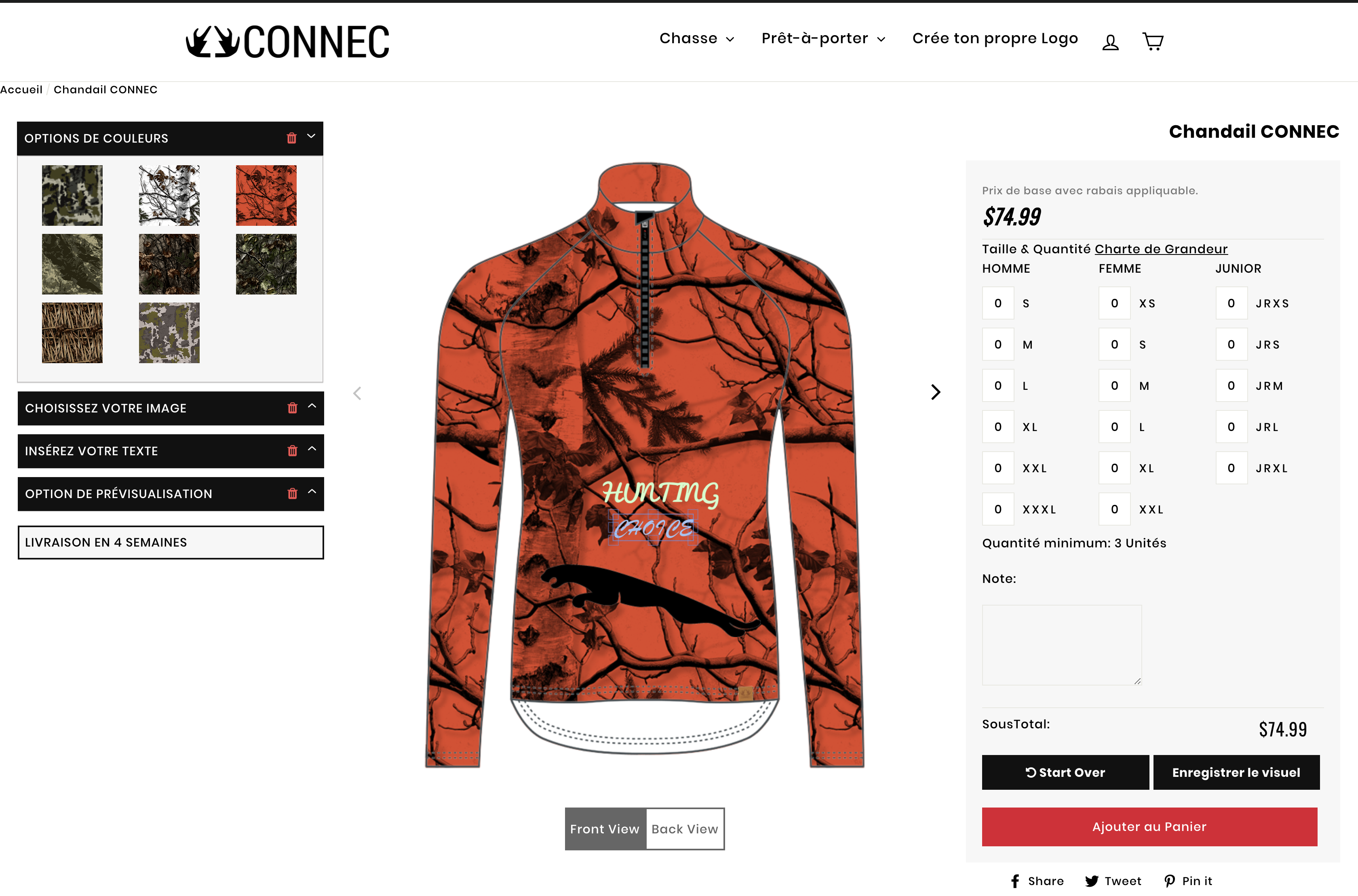CONNECT OUTDOORS CUSTOMIZATION